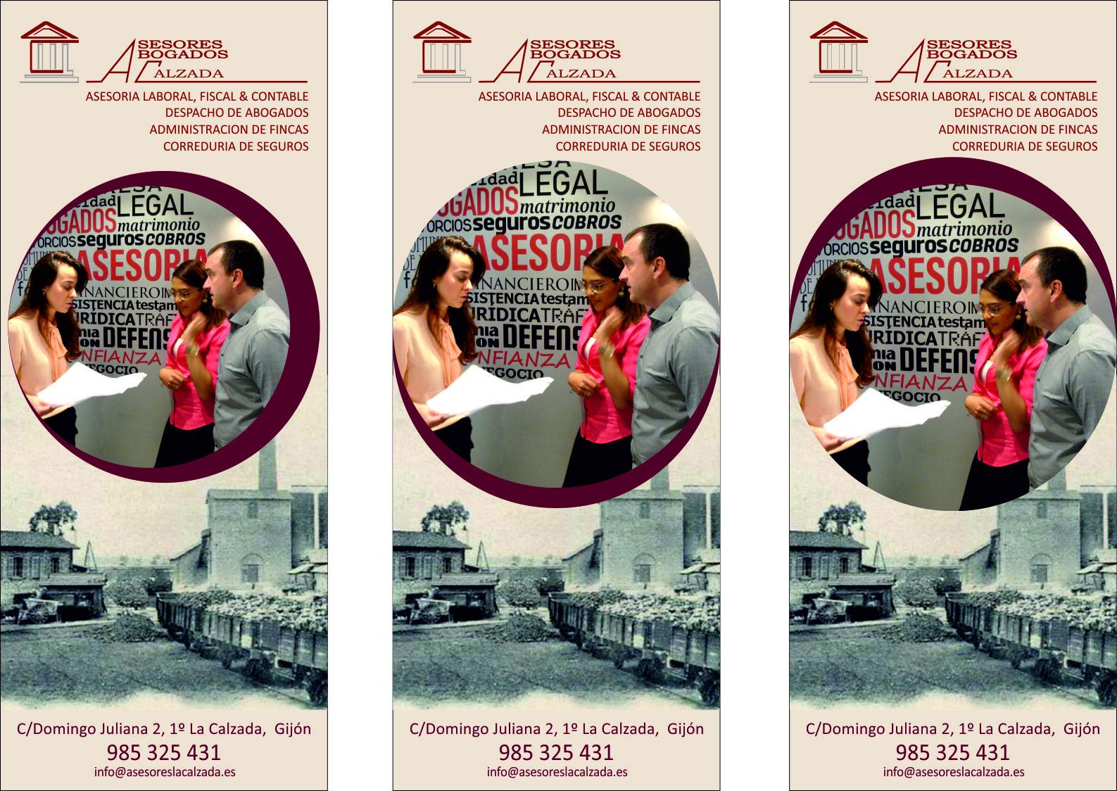 Abogados, asesores y admon fincas  LA CALZADA tF: 985 32 54 31
